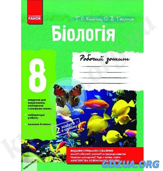 Робочий Зошит Біологія 9 Клас Котик Тагліна ГДЗ
